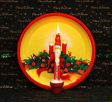 Santa Candle by Donuts