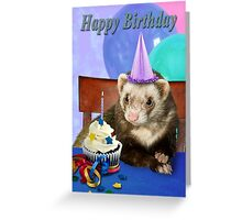 Birthday Ferret Greeting Card
