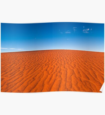 Red Sand, Blue Sky Poster