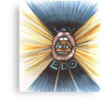 Lux Edo: Sentient Sacrement (color version) Canvas Print