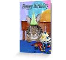 Birthday Bunny Rabbit Greeting Card