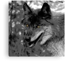 Alpha Male Wolf Canvas Print