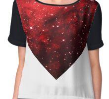 Red Galaxy Chiffon Top