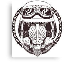 Baboon vintage motorcycle logo Canvas Print