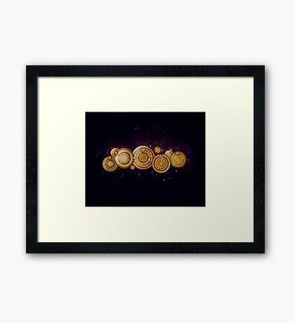Gallifreyan Steampunk Framed Print