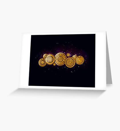 Gallifreyan Steampunk Greeting Card