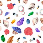 Colorful Sea Shells Pattern by artonwear