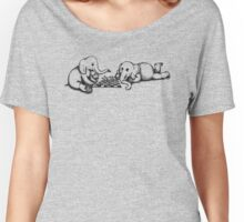Elephants Playing Chess Women's Relaxed Fit T-Shirt