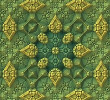 Green Fields 3-D Fractal by Lyle Hatch