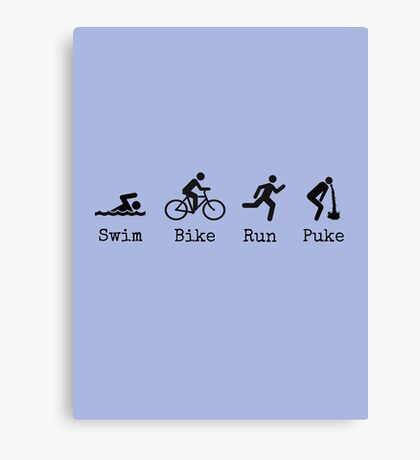 Triathlon Canvas Print
