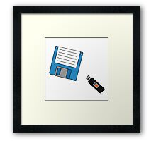 Floppy Disk and Thumb Drive Framed Print