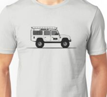 A Graphical Interpretation of the Defender 110 Station Wagon Big Foot Unisex T-Shirt