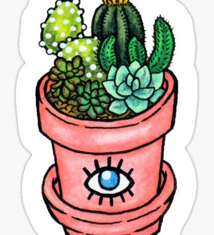 Cactus Pot Plant Sticker