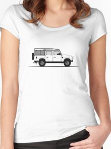 A Graphical Interpretation of the Defender 110 Station Wagon DMC Women's Fitted Scoop T-Shirt