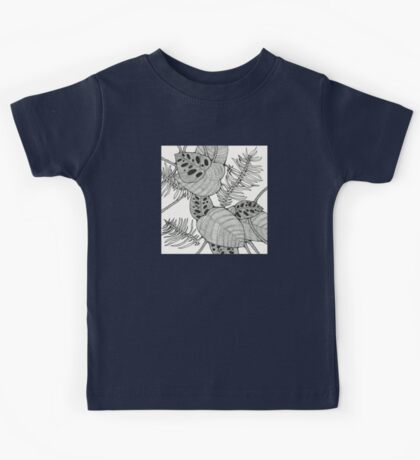 Black & White Tropical Kids Tee