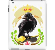 Crow with Crown iPad Case/Skin