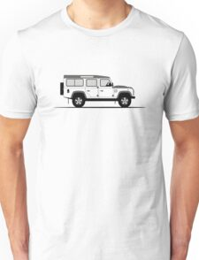 A Graphical Interpretation of the Defender 110 Station Wagon Fire and Ice Edition Unisex T-Shirt