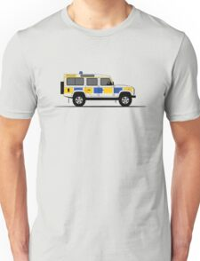 A Graphical Interpretation of the Defender 110 Station Wagon Police Car Unisex T-Shirt