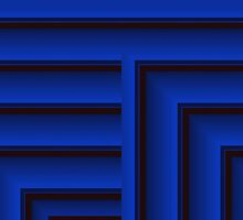Curvilinear Project No.295 ( The Blue Window ) by CurvilinearArt