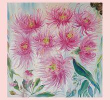Gum Blossoms (ii) by Liz H Lovell One Piece - Short Sleeve