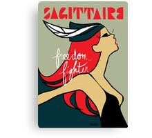 The Horoscope Series - Sagittarius Canvas Print
