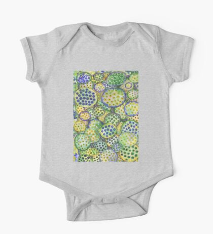 Abstract Lotus Seed Pods One Piece - Short Sleeve