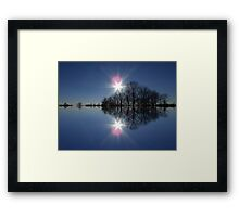 Double Bright Framed Print