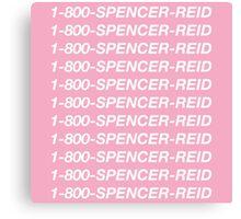 1-800-Spencer-Reid Canvas Print
