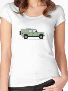 A Graphical Interpretation of the Defender 110 Utility Station Wagon Heritage Edition Women's Fitted Scoop T-Shirt