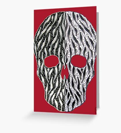 skull (two face) Greeting Card