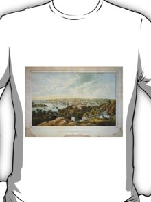 Vintage Pictorial Map of Georgetown (1855) T-Shirt