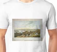Vintage Pictorial Map of Georgetown (1855) Unisex T-Shirt