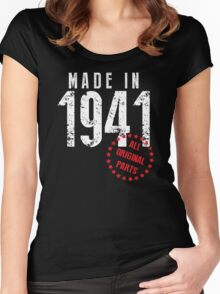 Made In 1941, All Original Parts Women's Fitted Scoop T-Shirt