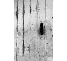 Boat shed door Photographic Print