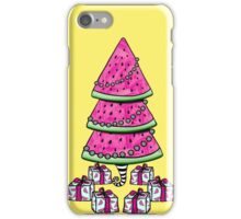 Aussie Xmas Design on Yellow #2 Watermelon Tree with Presents iPhone Case/Skin