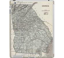 Vintage Map of Georgia (1845)  iPad Case/Skin