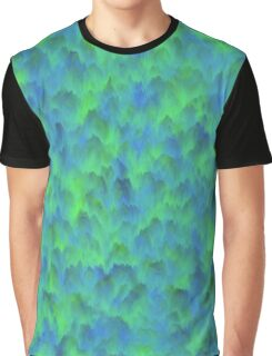 Blue-Green Waves Graphic T-Shirt
