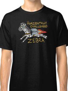 Horizontally Challenged Zebra Classic T-Shirt