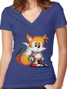 "Miles ""Tails"" Prower - Sprite Women's Fitted V-Neck T-Shirt"