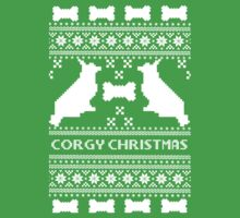 Christmas sweater - corgi christmas green One Piece - Short Sleeve