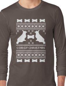 Christmas sweater - corgi christmas green Long Sleeve T-Shirt