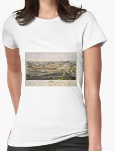 Vintage Map of The Gettysburg Battlefield (1863)  Womens Fitted T-Shirt