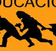 Educacion Caution American Dream Border Crossing Sticker