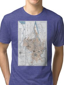 Vintage Map of Ghent Belgium (1905) Tri-blend T-Shirt