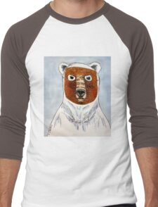 The Age of the Pizzly (or Grolar Bear) Men's Baseball ¾ T-Shirt