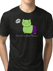 The incredible Meow  Tri-blend T-Shirt