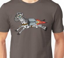 Horizontally Challenged Zebra- Wordless Unisex T-Shirt