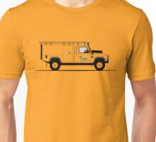 A Graphical Interpretation of the Defender 130 Single Cab High Capacity Pick Up Camel Trophy Unisex T-Shirt