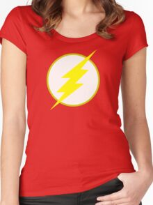 The Flash Logo Minimalist Women's Fitted Scoop T-Shirt