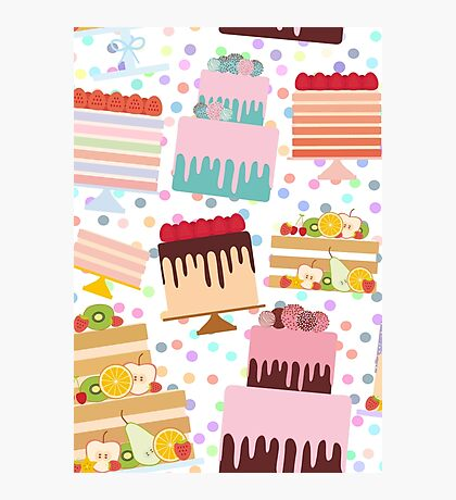 Sweet Cakes Photographic Print
